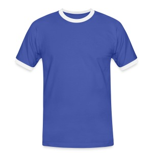 Blue and White T-Shirt - Men's Ringer Shirt