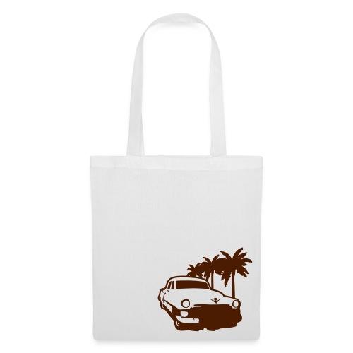 Bag - Old car - white - Stoffveske