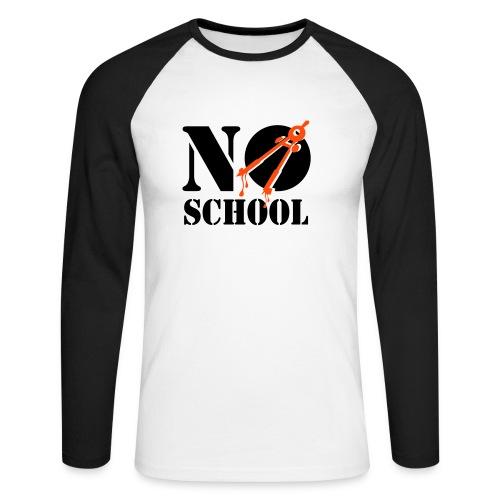 No school - Langermet baseball-skjorte for menn