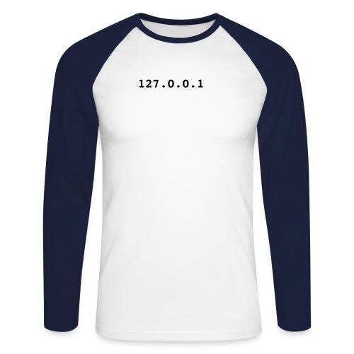 localhost [hack] - Men's Long Sleeve Baseball T-Shirt