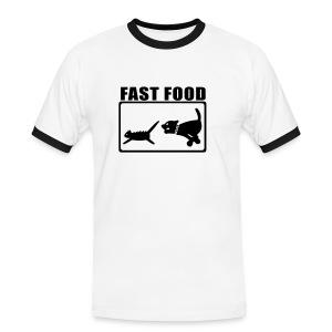 Fast food - Kontrast-T-skjorte for menn