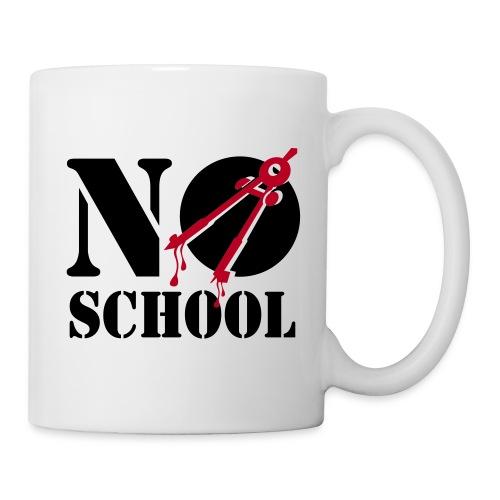 tasse no school - Mug blanc