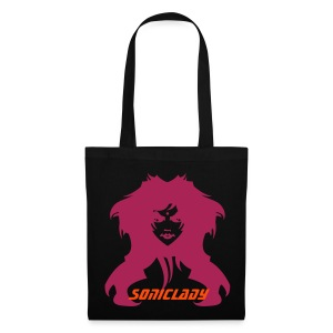 Black Sonic Lady Tote - Tote Bag