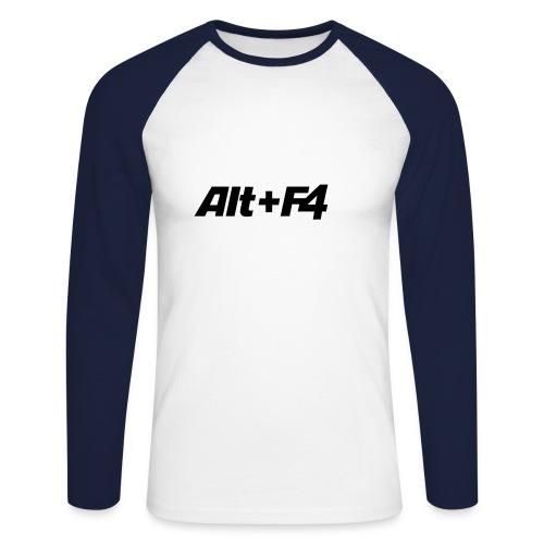 Alt+F4 longsleeve - Männer Baseballshirt langarm