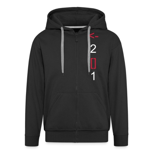 back to square one hoodie - Men's Premium Hooded Jacket