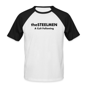 theSTEELMEN A Cult Following Tee (Black & White) - Men's Baseball T-Shirt