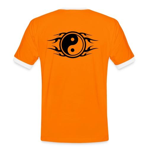 Ying Yang Orange - Men's Ringer Shirt