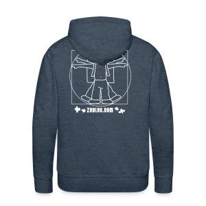 ZeBloc Capuche Marron - Sweat-shirt à capuche Premium pour hommes
