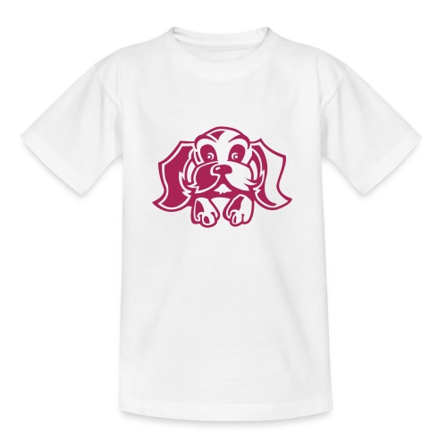 Kid's Pink puppy t-shirt - Teenage T-Shirt