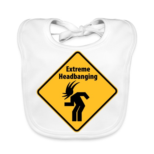 extreme headbanging baby bib - Baby Organic Bib