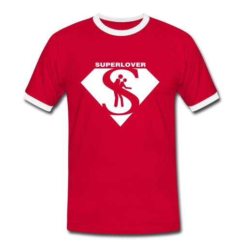 superlover t-shirt - Mannen contrastshirt