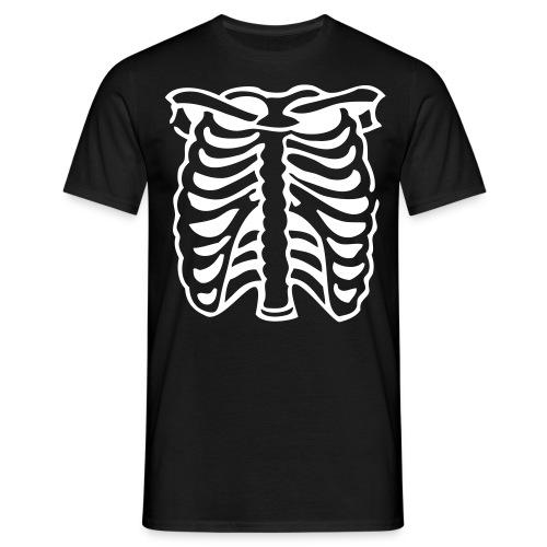 Men's Black Ribbed Top - Men's T-Shirt