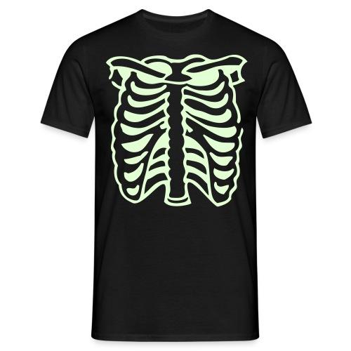 Men's Black Glow-in-the-Dark Ribbed Top - Men's T-Shirt