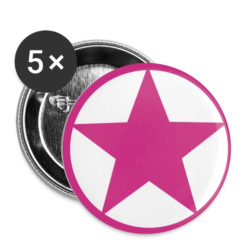 Star Badge - Buttons small 1''/25 mm (5-pack)