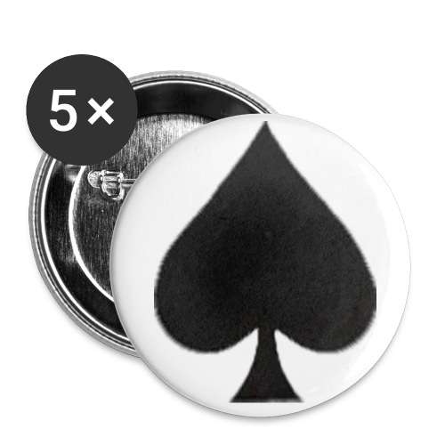 Ace of Spades Button - Buttons klein 25 mm (5er Pack)