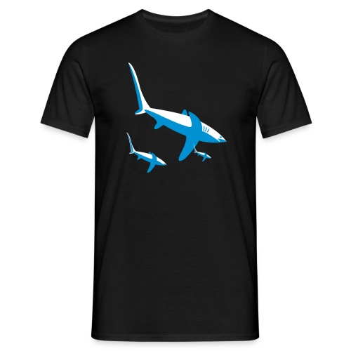 sharkfamily - Mannen T-shirt