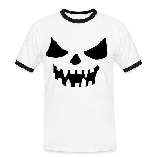 scary face shirt - Kontrast-T-skjorte for menn