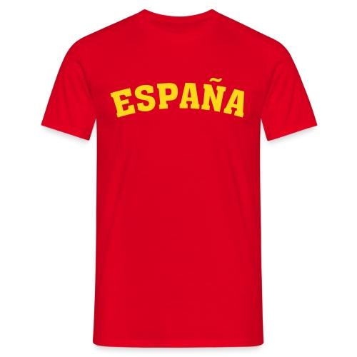 M-STCO, Espana, gelb auf rot - Männer T-Shirt