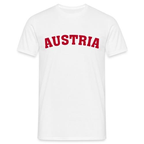M-STCO, Austria, rot auf weiss - Männer T-Shirt