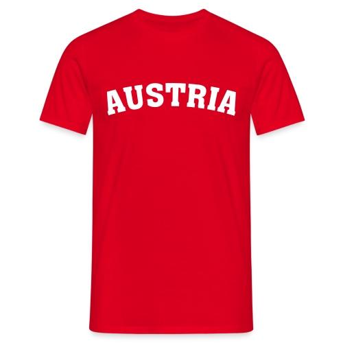 M-STCO, Austria, weiss auf rot - Männer T-Shirt