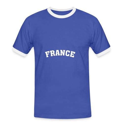 M-SCON, France - Männer Kontrast-T-Shirt