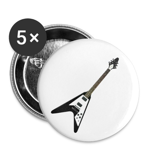 Flying V black Button - Buttons klein 25 mm (5er Pack)