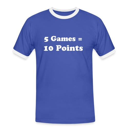 5 Games = 10 Points - Men's Ringer Shirt