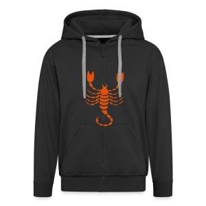 skorpion - Miesten premium vetoketjullinen huppari