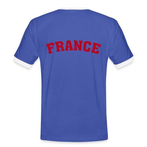 France - Männer Kontrast-T-Shirt