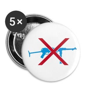 no guns badge - Buttons large 56 mm
