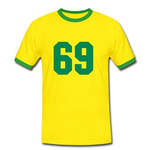 69 - Mannen contrastshirt