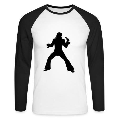 Promodoro Raglan Longsleeve, 100% cotton, white/black  - Men's Long Sleeve Baseball T-Shirt