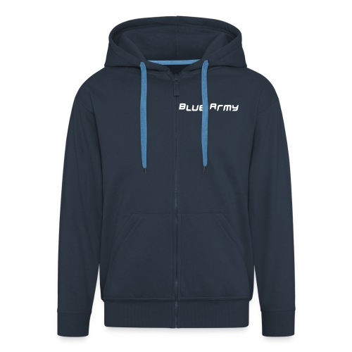 Blue Army Hoodie - Men's Premium Hooded Jacket