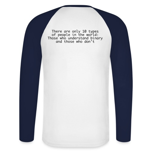 Binary anthropology - Men's Long Sleeve Baseball T-Shirt