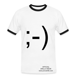 wink text tee - Men's Ringer Shirt