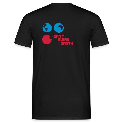 can't clone earth schwarz - Männer T-Shirt