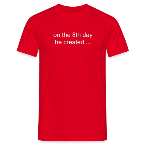 On the 8th day he created Bergkamp! (R) - Men's T-Shirt