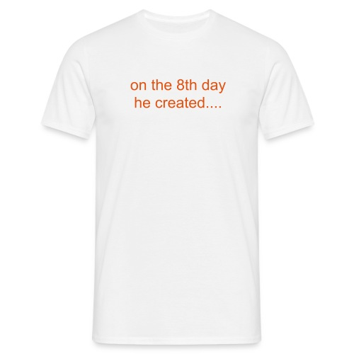On the 8th day he created Bergkamp! - Men's T-Shirt