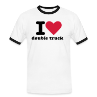 T-Shirts ~ Men's Ringer Shirt ~ Mens I heart double truck