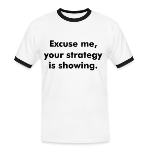 Womens Strategy Showing - Men's Ringer Shirt
