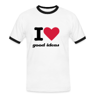T-Shirts ~ Men's Ringer Shirt ~ Mens I heart good ideas