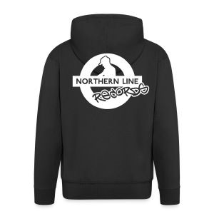 NLR ZIPPED HOODIE WITH WHITE LOGO TO REVERSE - Men's Premium Hooded Jacket