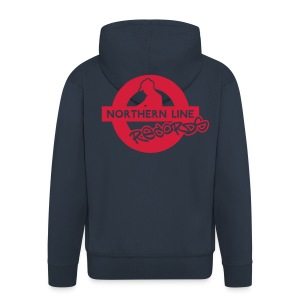 NLR ZIPPED HOODIE WITH RED LOGO TO REVERSE - Men's Premium Hooded Jacket