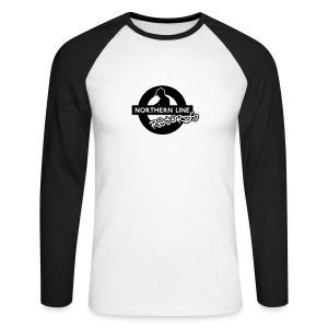 NLR BLACK & WHITE LONG SLEEVE TOP  - Men's Long Sleeve Baseball T-Shirt