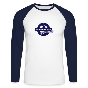 NLR BLUE & WHITE LONG SLEEVE TOP - Men's Long Sleeve Baseball T-Shirt