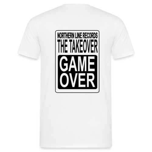 GAME OVER COMFORT T SHIRT WITH BLACK LOGO TO BACK - Men's T-Shirt