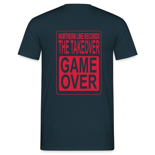 GAME OVER COMFORT T SHIRT WITH RED LOGO TO BACK - Men's T-Shirt