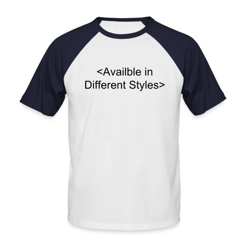 Add your own Text - Two colour - Men's Baseball T-Shirt