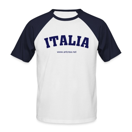 Italia manches courtes - T-shirt baseball manches courtes Homme