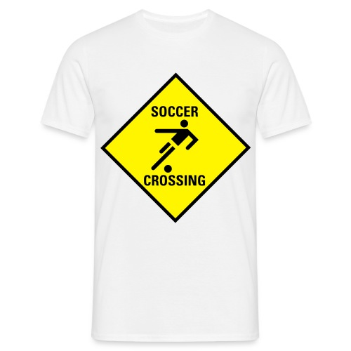 Soccer crossing - Männer T-Shirt